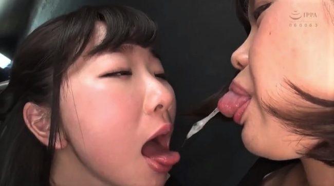 熊野あゆと優保なのかの唾液交換